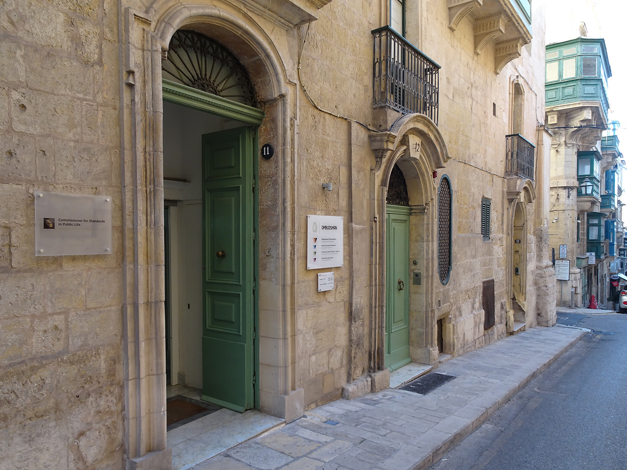 The office of the Standards Commissioner in St Paul Street, Valletta