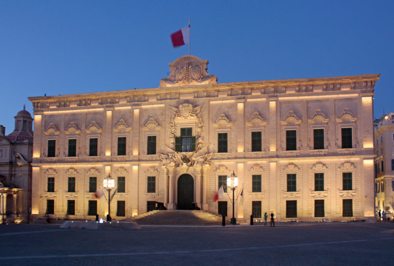 The Office of the Prime Minister, Auberge de Castille, Valletta, Malta