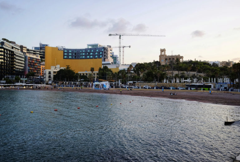 St George's Bay in Paceville, Malta